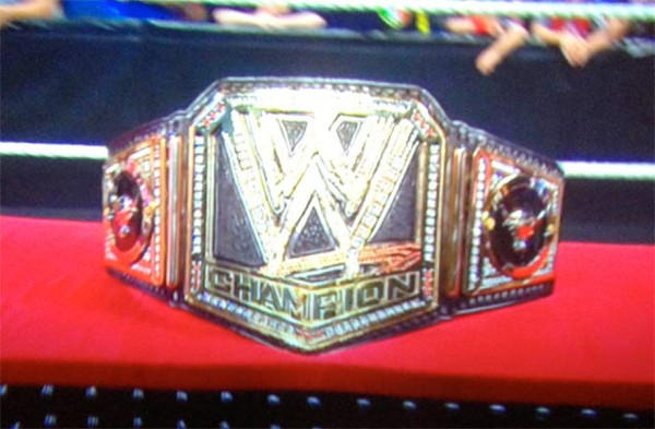 The new WWE championship belt.