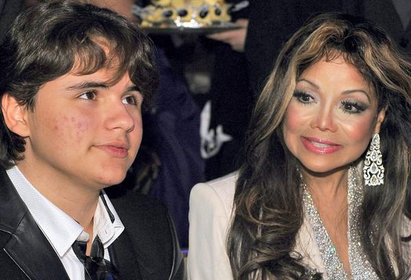 Prince Jackson and his aunt La Toya Jackson attend the annual charity Jummimuus Gala in Cologne, Germany, in January.