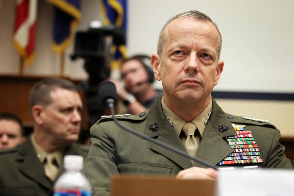 Gen. John Allen has announced his retirement, citing health issues in his family.