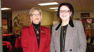 Carol Turner, left, manager of the senior centers in Boswell and Central City, and Eleanor Pile, manager of the senior center in Windber.