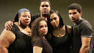 As part of Quinnipiac University's Black History Month celebration, members from the First Wave Hip Hop and Urban Arts Learning Community will perform <em>Kingdom Bequeath</em>, an experimental production pondering questions about life, respect, power, equal rights and justice. Members pictured here are, from left, Cydney Edwards, Janel Herrera, Andrew Thomas, Thiahera Nurse and Christian Robinson, all between 19 and 22 years of age. <strong><em></em></strong>