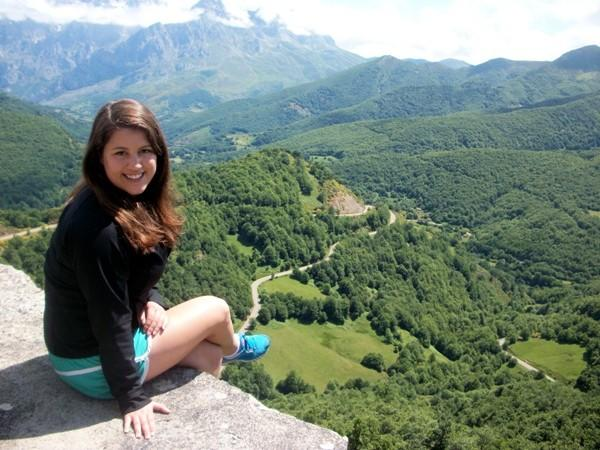 Catherine Althaus, Northwestern junior, in Asturias, Spain, in the summer of 2012.