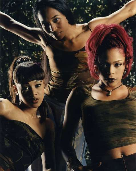Lisa Lopes, left, Rozanda Thomas and Tionne Watkins of TLC.