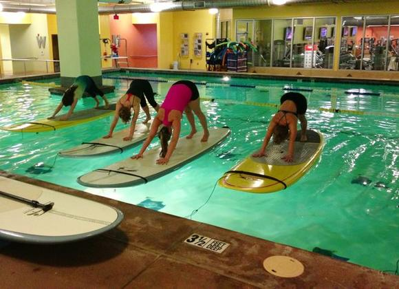 Paddleboard yoga and pilates is moving indoors