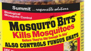 Summit Mosquito Bits, a biological control that kills mosquito larvae, is now also approved for the control of fungus gnats, which usually populate potting soils for house and container plants.