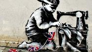 "A Los Angeles Times account of a London mural by Bansky somehow ending up in a catalog of Fine Art Auctions Miami (where it is valued at $500,000 to $700,000)   links to <a href=""http://www.dailymail.co.uk/femail/article-1034538/Graffiti-artist-Banksy-unmasked---public-schoolboy-middle-class-suburbia.html"">a story in London's Daily Mail</a> that calls Banksy ""the Scarlet Pimpernel"" of the art world. Which, astonishingly, is not the best thing to be found in its profile of the elusive artist."