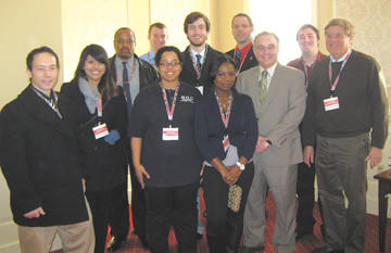 A group from Hagerstown Community College traveled to Annapolis recently. From left, Tony Holweck, Kim Medina, Mark Goodnight, Luke Hoffman, Maria Edmonds, Joseph Knight, Gladys Cudjoe, Rick Howe, Guy Altieri, John Volz and Buck Macht.