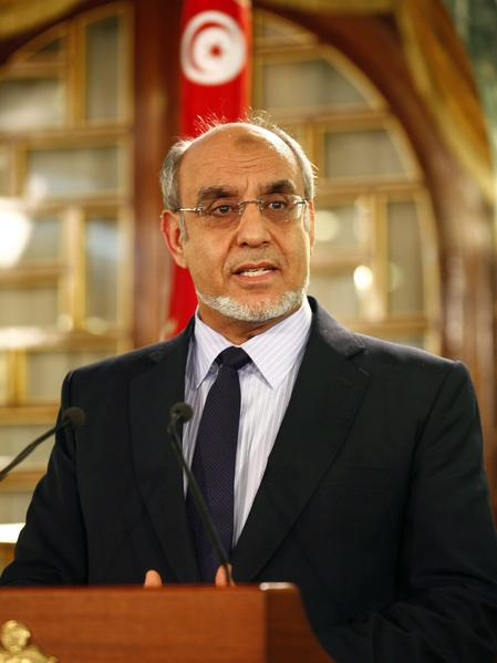 Tunisian Prime Minister Hamadi Jebali announces his resignation during a news conference in the capital, Tunis, on Tuesday.