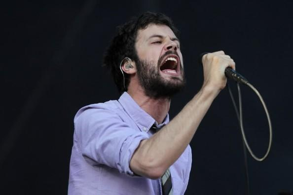 Passion Pit's Michael Angelakos performs at Lollapalooza in Grant Park August 3, 2012.