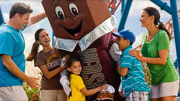 A candy bar character at Hersheypark