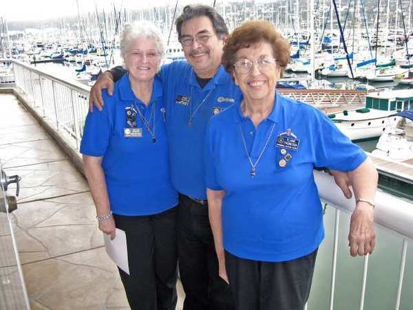 Burbank Civitans attending the California district meeting in San Diego are, from left, Civitan of the Year Dee Dee Ruhlow, Lt. Governor Randy Garcia and President Elaine Paonessa.