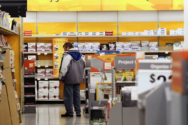 Not long ago, bets were that Staples might link up with Naperville-based OfficeMax.