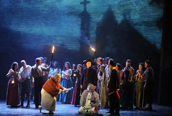 "A scene from the 25th anniversary touring production of ""Les Miserables,"" at the Ahmanson Theatre in 2011."