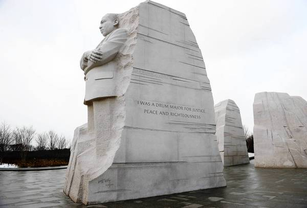 "The ""Stone of Hope"" sculpture at the National Martin Luther King Jr. Memorial is seen on February 1, 2013."