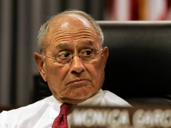 Former Los Angeles schools Supt. Ramon Cortines, shown in 2009, was accused by a school district manager of repeatedly trying to engage him in unwanted sexual behavior.