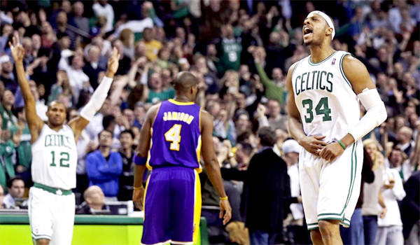 The last time the Lakers faced the Celtics, Paul Pierce led Boston with 24 points, seven rebounds and six assists.