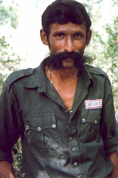 Notorious smuggler Koose Muniswamy Veerappan in October 2004.