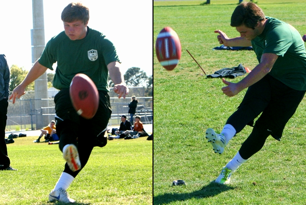 Orlando kickers Landon Scheer of First Academy and Austin Jones of Boone are two of the top kickers in the nation.
