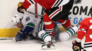 The NHL suspended Vancouver Canucks forward Jannik Hansen one game after his hit to the head of the Chicago Blackhawks' Marian Hossa during Tuesday night's game at the United Center.