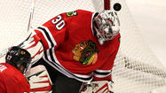 Three times the Blackhawks broke in alone on Canucks goaltender Cory Schneider during the opening period. Three times they came away empty.