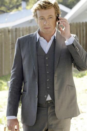 "Simon Baker on ""The Mentalist."" Costumes by Shell"