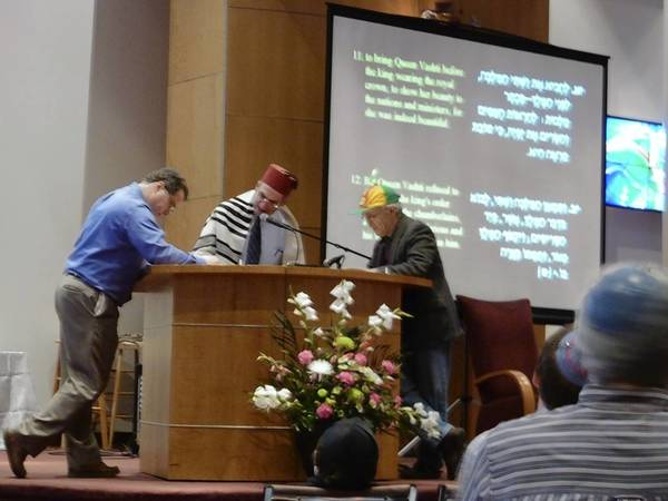 The Purim celebration at Congregation B'nai Tikvah in Deerfield last year.