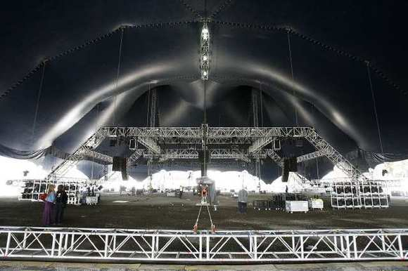 The tent for Cavalia's latest show is as tall as a 10-story building, according to the company. The show opens Feb. 27.