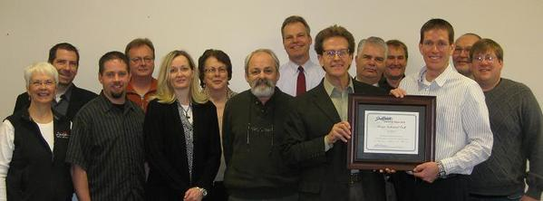 Members of the community accept the Governor's office designation of a certified ready site for the Sturgis Industrial Park.