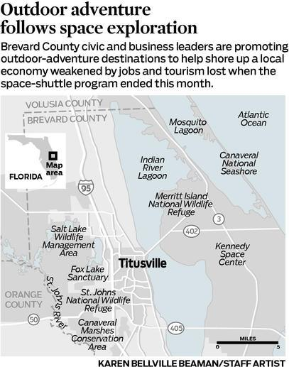 Brevard County and post-shuttle ecotourism include the St. Johns National Wildlife Refuge, Merritt Island National Wildlife Refuge and more.