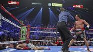 When last we left Manny Pacquiao, darling of the fight world, he was flat on his face, out cold in the corner of a boxing ring.