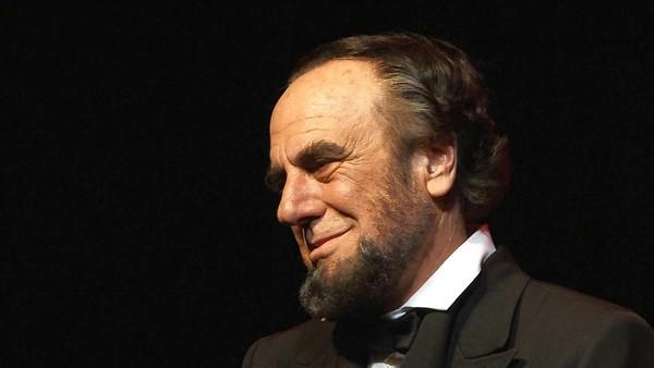 "Gary Saderup as Abraham Lincoln in ""Lincoln, the One-Man Show."""