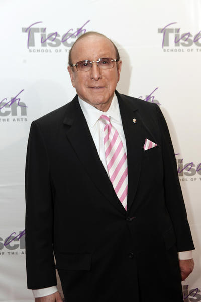 Music executive Clive Davis poses as he arrives for the 2012 Tisch School Of The Art Gala in New York City.