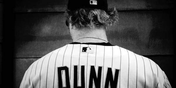 Chicago White Sox' Adam Dunn during Spring Training in Glendale, Arizona.