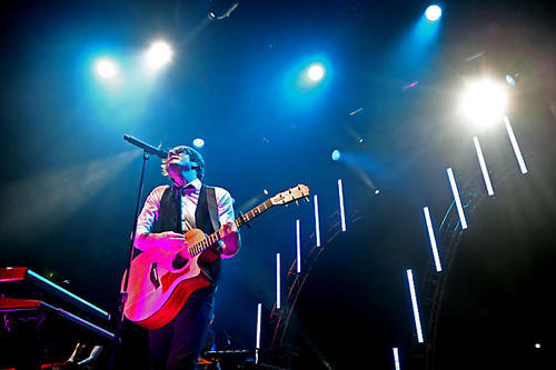 Adam Young of Owl City performs at Club Nokia at L.A. Live.