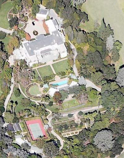 Gary Winnick's knoll-top property adjoins several holes on the private Bel-Air Country Club, affording the owner a degree of privacy that would be difficult to duplicate on the built-out Westside. The grounds include a swimming pool, a pool house and a tennis court.