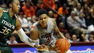 Virginia Tech's Jarell Eddie heads into Duke game with shaky confidence