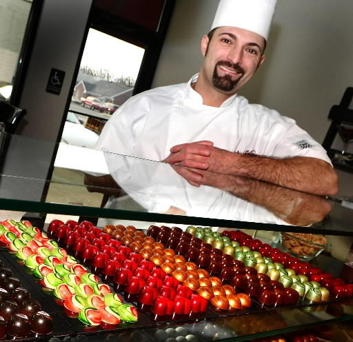 Pastry Chef Alan Pitotti makes incredible toffee as well as artisanal chocolates