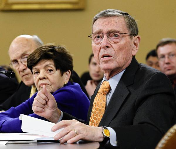 Former Sen. Pete Domenici (R-N.M.), shown in November 2011, acknowledges he fathered a son outside his marriage three decades ago.