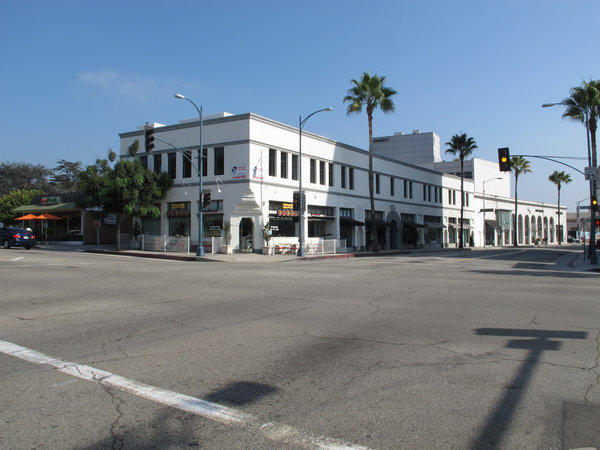 The two-story office and retail building at 9435-9437 S. Santa Monica Blvd. was built by Jack Warner in 1928.
