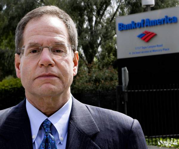 Michael Winston, a former leadership coach for Countrywide Financial executives, won a wrongful termination verdict in February 2011 from a Los Angeles County Superior Court jury in Van Nuys. The suit named as defendants Countrywide and Bank of America, which acquired the high-risk mortgage specialist in 2008 and decided against retaining Winston. Above, Winston in March 2012.