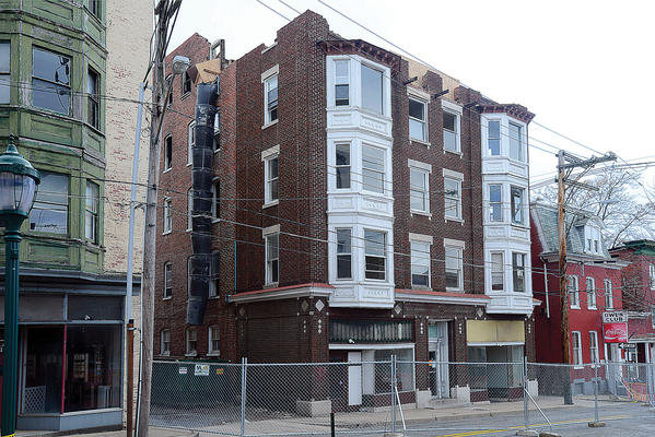 Demolition work has started on the fire-damaged building at 19-21-23 W. Antietam St. in Hagerstown.