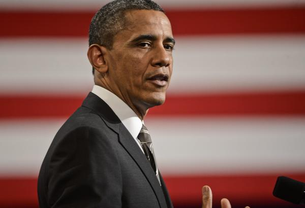 "President Obama speaks at Hyde Park Academy in Chicago, Ill. Obama is calling for a raise to the federal minimum wage, job training and marriage for low income families on his post State of the Union tour promoting his ""ladders of opportunity"" initiative."