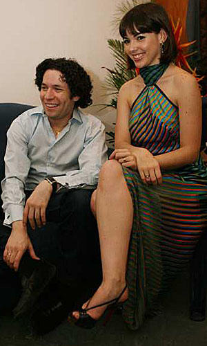 Gustavo Dudamel with his wife, Eloisa Maturen.