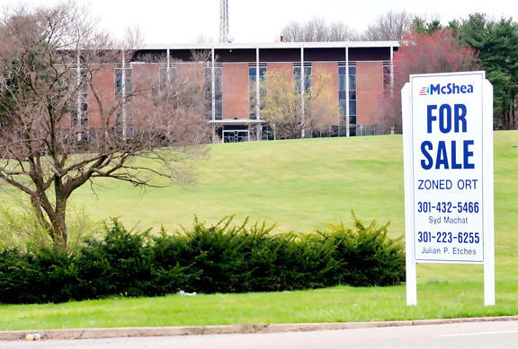 The former Allegheny Energy headquarters site at 10435 Downsville Pike is pictured in this Herald-Mail file photo. The Washington County Board of Education has entered into a purchase agreement for the former Allegheny Energy headquarters site.