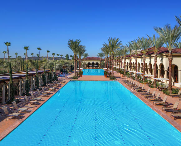 The main pool area at Los Olivos Apartment Village in Irvine.