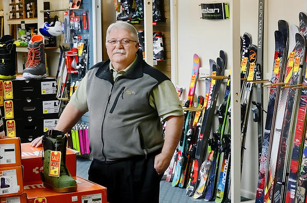 Bill L. Clowser, of Bikle's Ski Shop is retiring after 26 years of co-owning the business with his sister, Barbara Tritle.