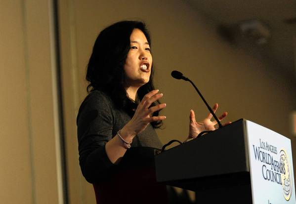 Michelle Rhee, former chancellor of District of Columbia schools, is head of StudentsFirst, an education reform group that pumped $250,000 into the Los Angeles Unified School District board races.