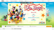 Evite now offers Disney themed invitation templates.