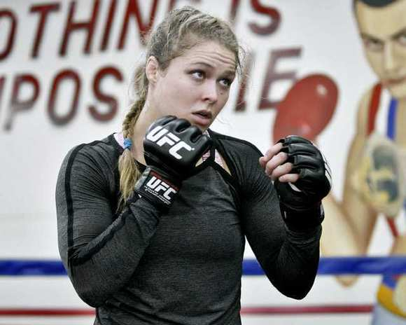 Ronda Rousey, 26, is the world's first female UFC Champion.