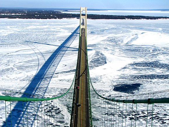 Mackinaw Bridge, February 2007